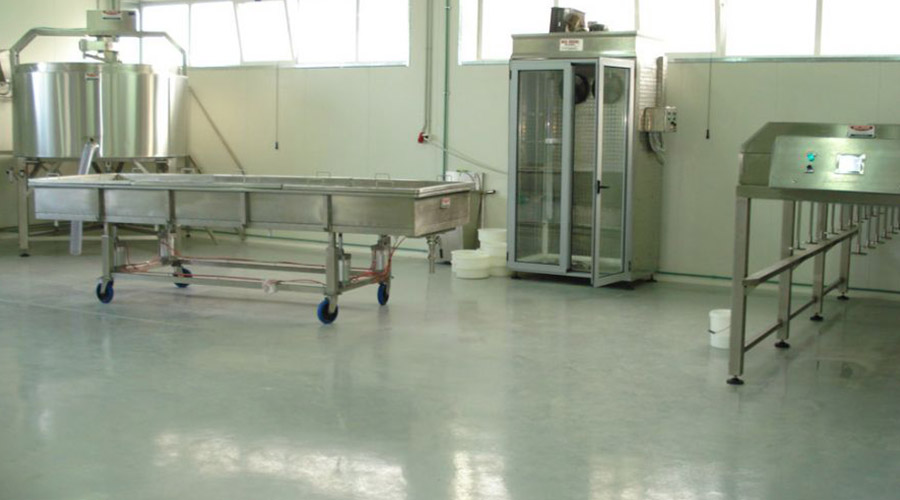 PRESSERS OF TUNEL - COOLING CHAMBER - CHEESE TABLES AND HANGER